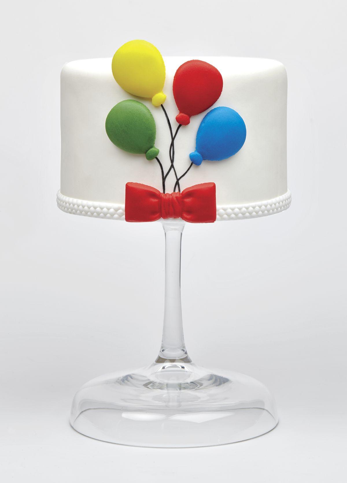 sugarpaste ballons cake